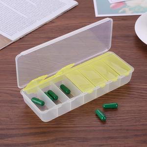 Image 5 - 14/7 izgaralar 7 gün haftalık hap durumda ilaç Tablet dağıtıcı organizatör hap kutusu bölücüler hap depolama organizatör konteyner