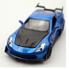 1:32 Diecast Model Alloy Car Chevrolet Corvette High Simulation Collection  4 Colors