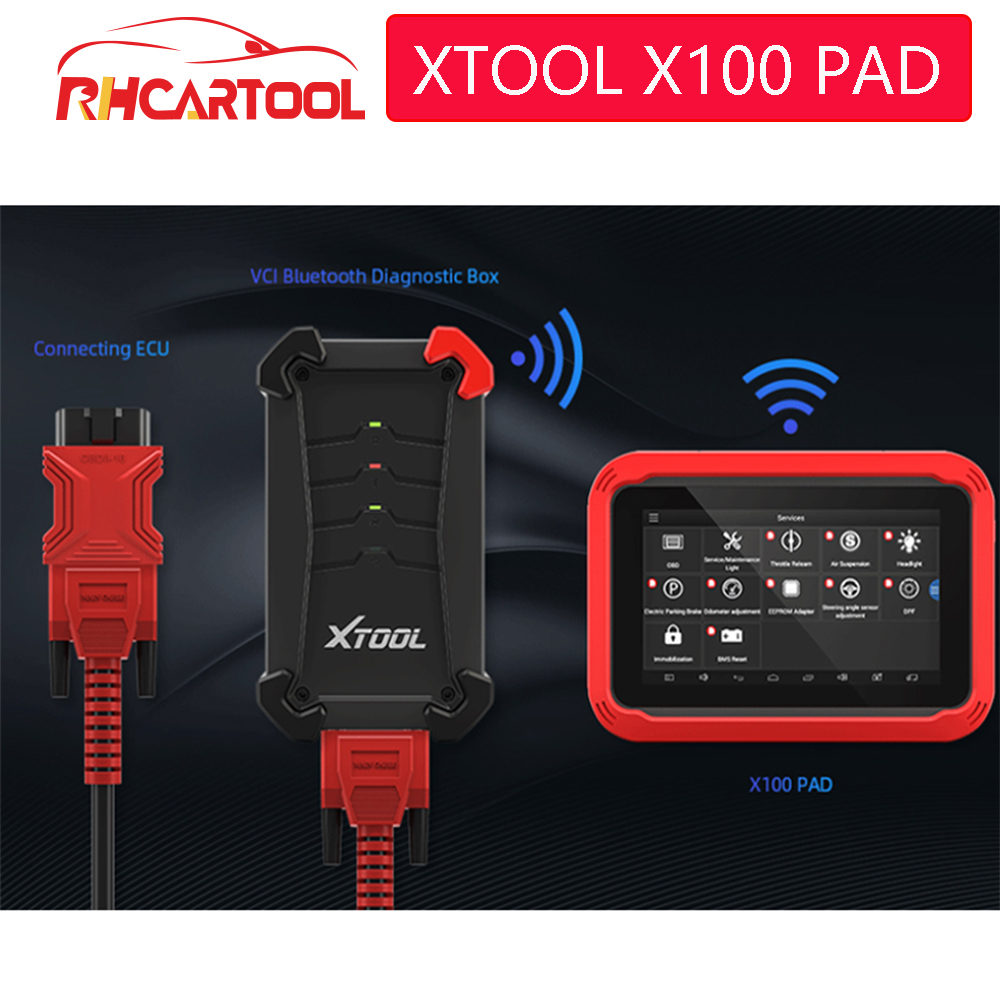 X100 PAD OBD2 Auto Key Programmer Diagnostic Scanner Automotive Code Reader IMMO EPB DPF BMS Reset