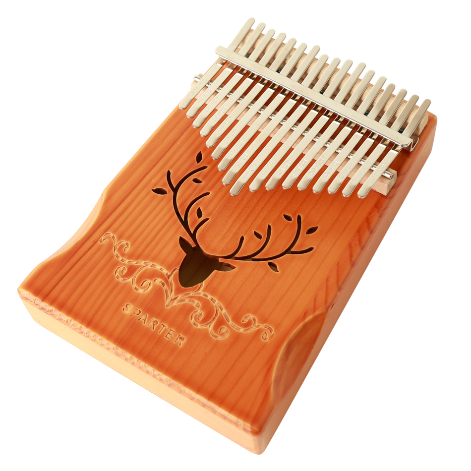 NEW Kalimba 17 Keys Thumb Piano Builts-in EVA High-performance Protective Box Tuning Hammer Kalimba