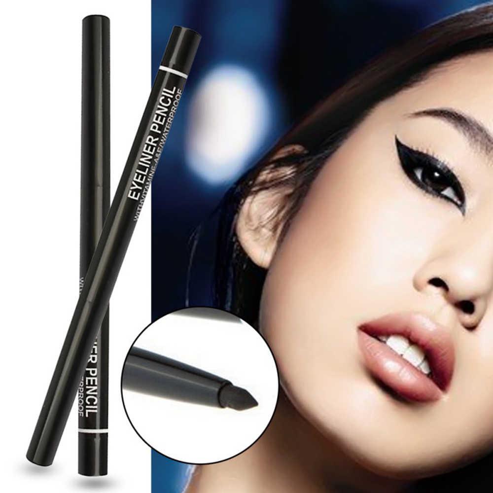 1 pièces noir automatique Rotation Eyeliner crayon longue durée étanche liquide Eyeliner stylo anti-transpiration pas floraison maquillage TSLM2