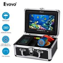 Eyoyo EF07 1000TVL 7 дюймов подводный рыболокатор рыболовная камера 12 шт. Белый светодиодный+ 12 шт инфракрасная лампа рыболокатор IP68 водонепроницаемый