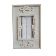 Пластина для домашней щетки, настенная розетка, белая противопылевая Проходная пластина для кабеля, вставная крышка, прочная панель, одна л...