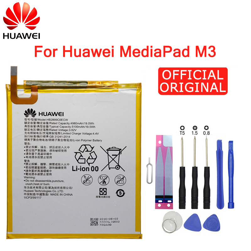 Hua Wei Replacement  Tablet Battery HB2899C0ECW For Huawei MediaPad M3 8.4