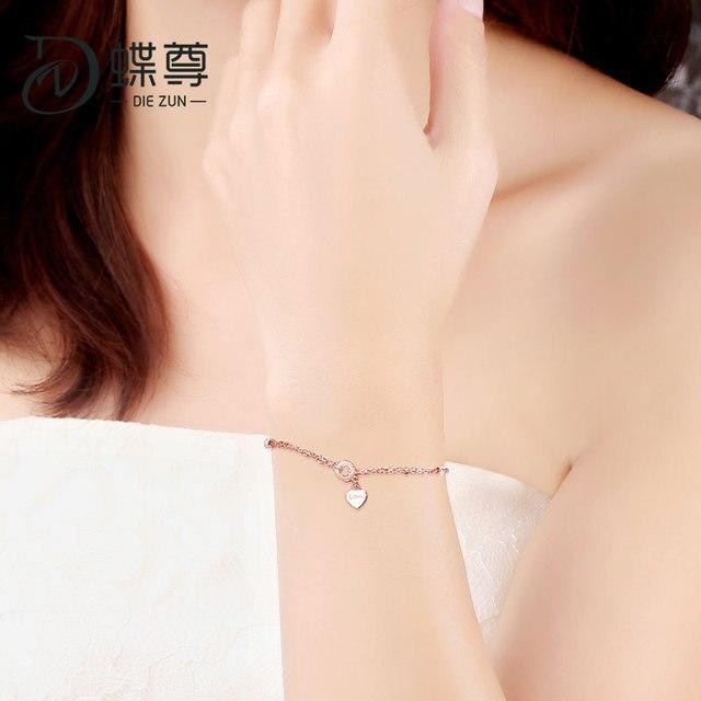 18K Gold Bracelet AU750 Lottery Gold Bracelet Footchain Rose Gold Bracelet Women Love Whisper 5
