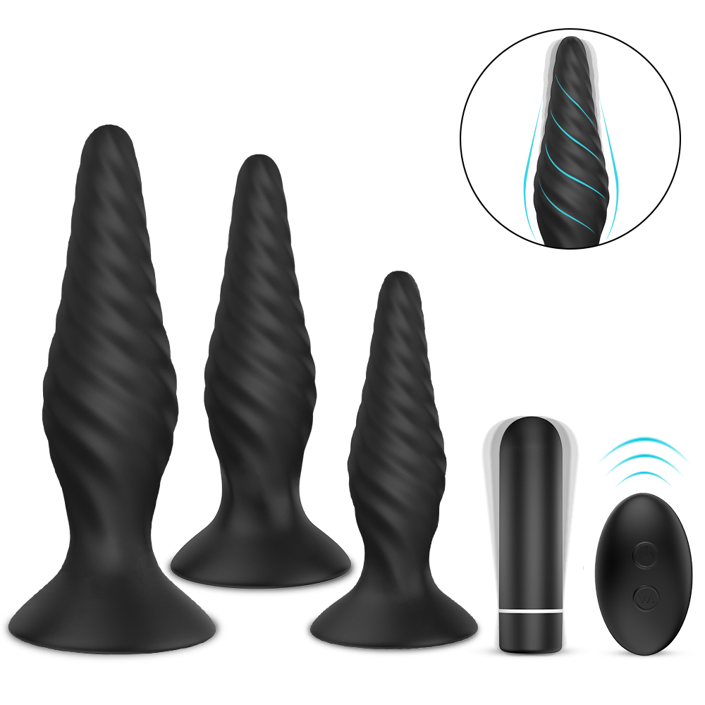 S hande Creams Butt Plug Wireless Anal Plug Vibrator 9 Strong Vibration Threads Anal Dildo For Women and Men Sex Toys For Adults