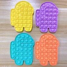 Toys Fidget Pop It Among for Children Autism Decompression Education Early-Childhood
