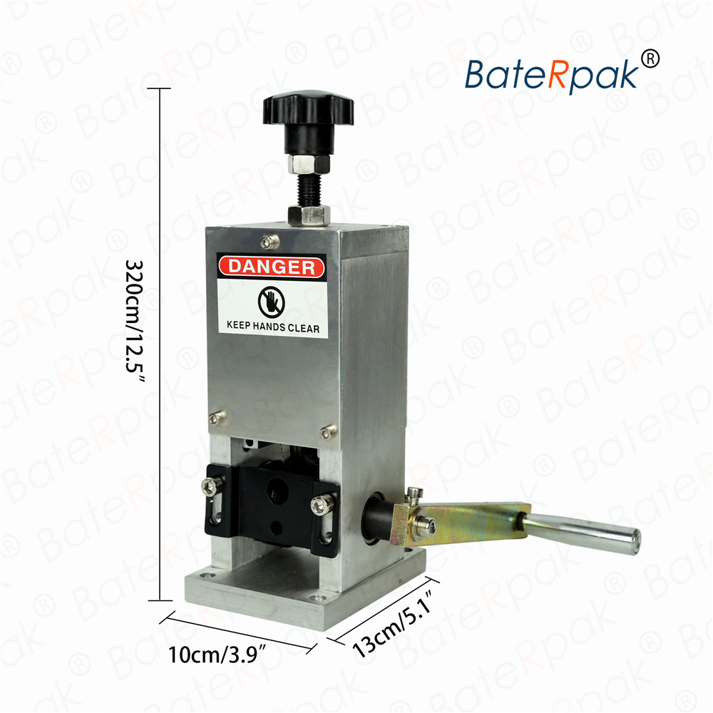 SD-25 Manual cabo de descascamento da máquina, máquina de descascar fio de plástico, BateRpak wire stripper, max Dia 1.5-20mm (Nenhuma broca)