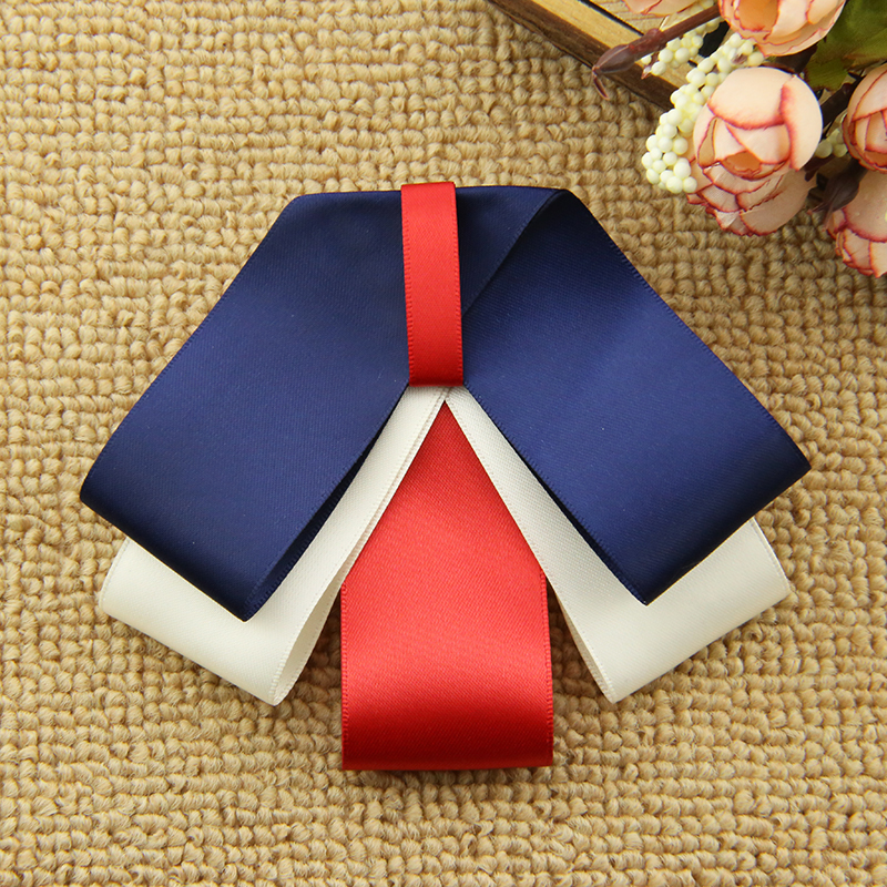 I-Remiel Shirt Butterfly Neck Tie Ribbon Bow Brooch School Women's Tops And Blouses Cravate Collar Cloth Art Women's Accessories
