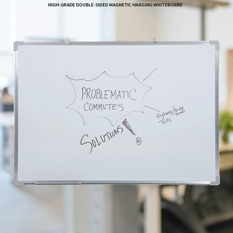 Single-sided Whiteboard Kantoor School Droge Wissen Schrijfbord Pen Magneten Knoppen Teaching Office Whiteboard