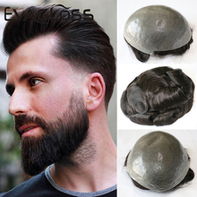 Handgemachte Menschliches Haar Männer Toupet starke Knoten Ersatz Nicht Nachweisbar Vorne Haar Linie Kapillare Prothese Natürliche Perücke Für Männer