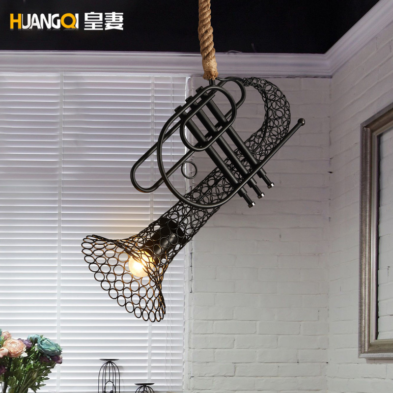 Loft Industrial Vintage Iron Pendant Light For Bar Restaurant Cafe Lamp Lustre Pendente