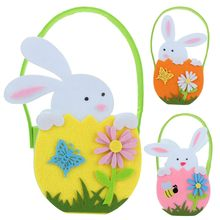 Easter Cute Bunny Candy Bag Creative Rabbit Gift Bag Cookie Snack Candy Bags Present Home Decorations Basket party supplies(China)