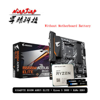 AMD Ryzen 5 R5 3600 CPU + GA B550M AORUS ELITE płyta główna + Pumeitou DDR4 8G 16G 2666MHz RAMs garnitur gniazdo AM4 bez chłodnicy