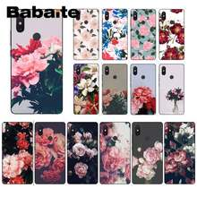 Babaite 花柄人気のアート牡丹花電話ケース xiaomi6 MIX2 note3 redmiK20 7 xiaomi8SE redminote4 4X note5 5A(China)