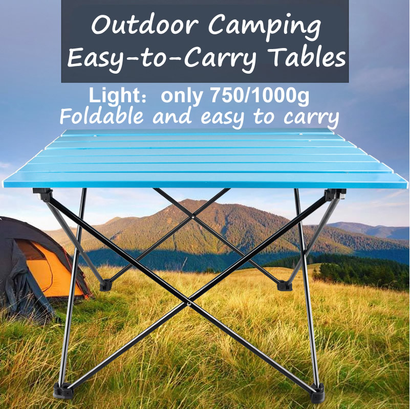 Aluminum Alloy Portable Table Outdoor Furniture Foldable Folding Camping Hiking Desk Traveling Picnic Table Small Terrace Desk