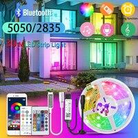 RGB LED Band 5M-30M LED Streifen Lichter 20m Bluetooth RGB 5050 12V IR Fernbedienung musik Flexible Band für Zimmer Wand Schlafzimmer Dekoration