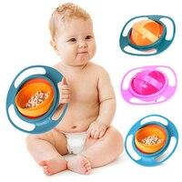 Heißer Verkauf Design Universal Kreisel Schüssel Gerichte Anti Spill Schüssel Glatte 360 Grad Rotation Kreiselsicherheitssensor Schüssel Für Baby Kinder-in Geschirr aus Mutter und Kind bei