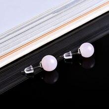 Boucles d'oreilles clous en cristal naturel, 1 paire, bijoux minéraux, bijou d'été, Quartz Rose pour femmes et filles, à la mode, bricolage, décorations de cadeaux