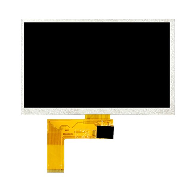 Prise TFT 40 broches, 7 pouces, résolution 800x480, affichage original de qualité industrielle, interface rvb