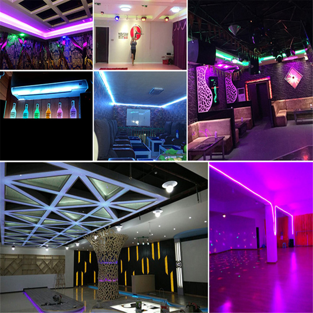 Image 3 - 220V LED Strip Light RGB SMD 5050 Tape Phone APP and Remote control Waterproof flexible neon lights Outdoor room decoration lamp-in LED Strips from Lights & Lighting