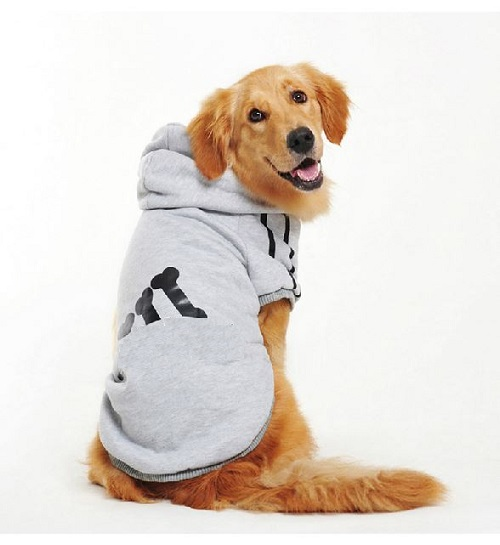 3XL-9XL Bulldog Winter Pet Dog Clothes Warm Sportswear Thick Large Coat Hoodie Golden Retriever Dogs Jacket