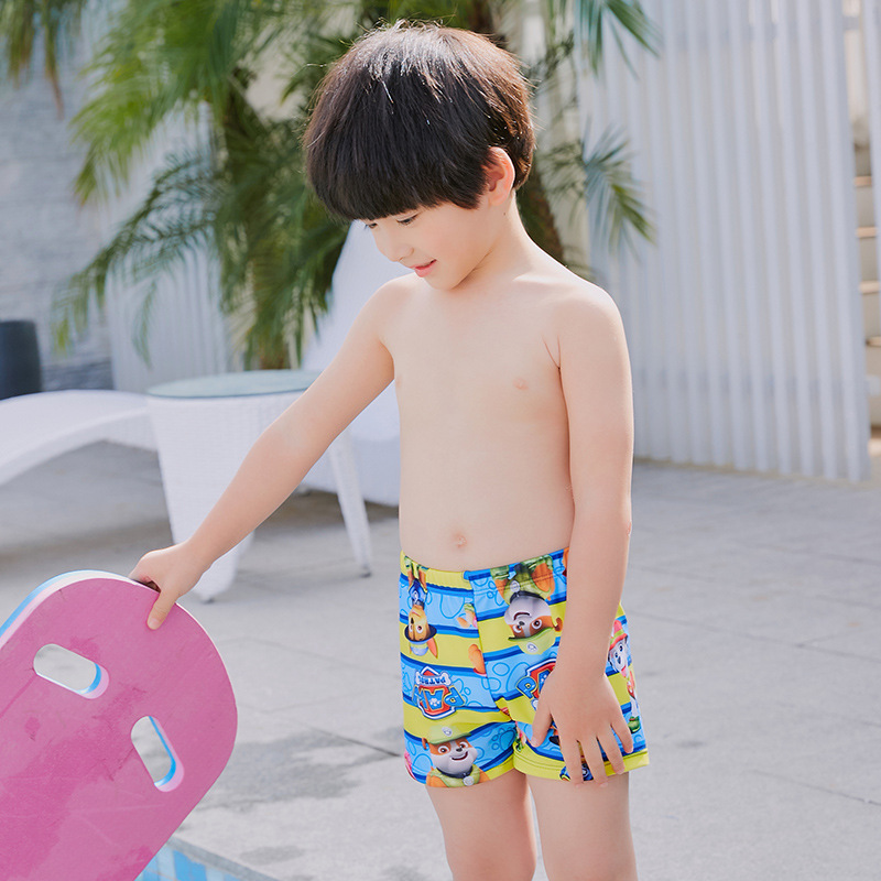 2019 BOY'S Swimsuit Stripes Cartoon Small CHILDREN'S Swimming Trunks Comfortable Swimming Pool CHILDREN'S Swimming Trunks Boxer