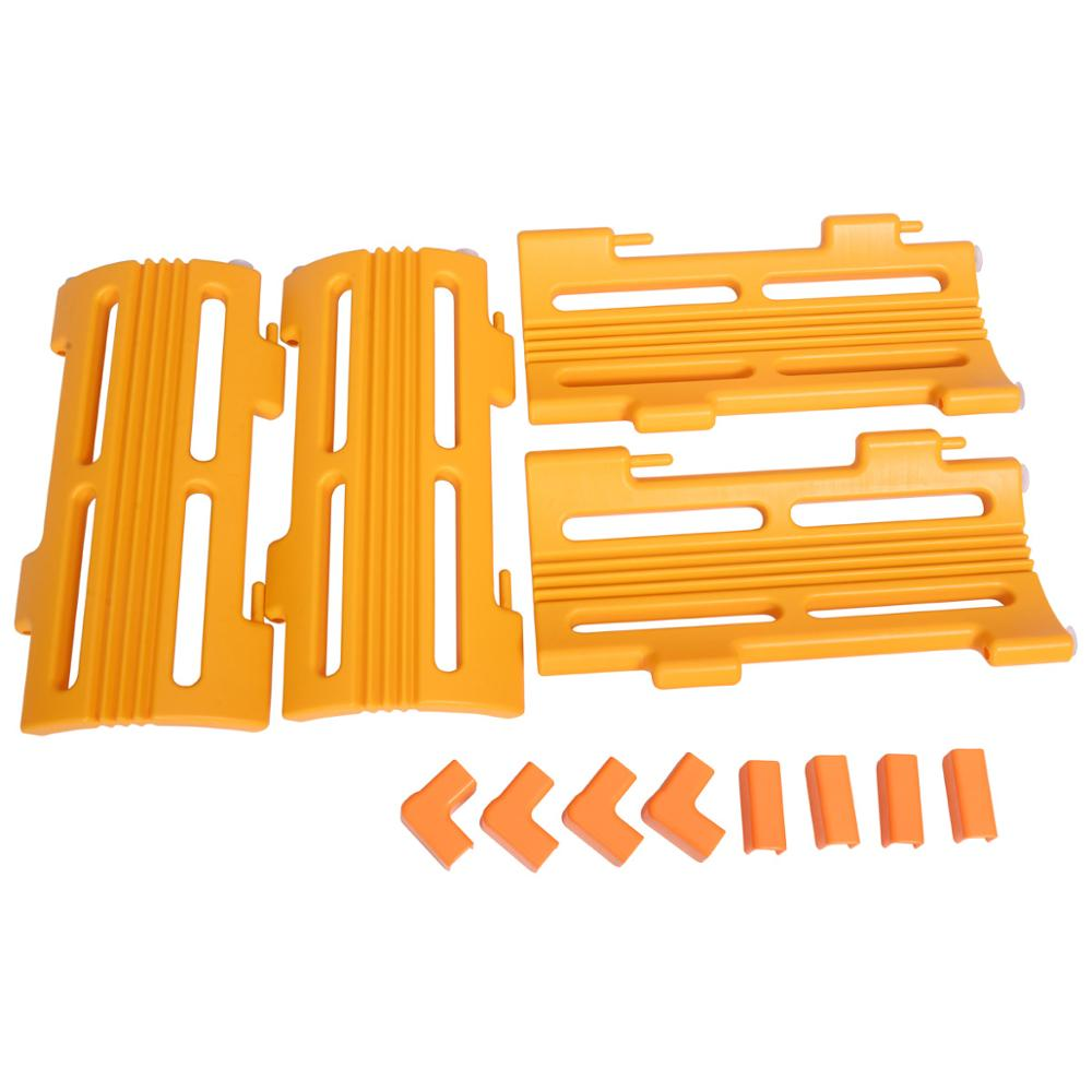 4Pcs Corner Piece Extension Panel Set For Baby Playpen Children Safety Yellow Play Center Yard Fence Easy To Assemble CL5755