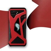 Telefone de couro caso protetor filme adesivo oco para fora design habitação capa para asus rog telefone ii 2/zs660kl escudo do telefone