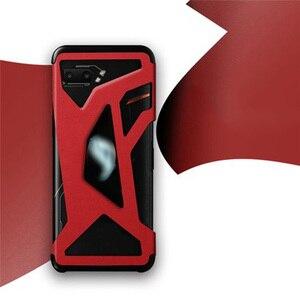 Image 1 - 革電話保護ケースフィルムステッカー中空アウトデザインハウジングカバー asus ROG 電話 II 2/ZS660KL 電話シェル