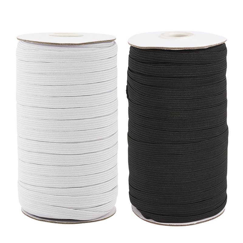 4mm 5mm 6mm 8mm 10mm 12mm 14mm Woven Flat Elastic Cord Sewing Stretch Rope For DIY Mask Craft Jewelry Making DIY