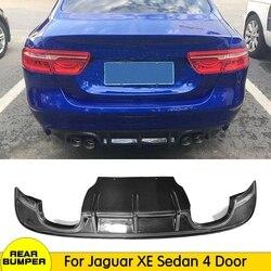 Z włókna węglowego/FRP dyfuzor tylnego zderzaka dla Jaguar XE Sedan 4 drzwi 2015 2016 2017 zderzak samochodu fartuch płyta ochronna