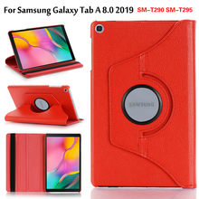 360 Degree Rotating Case For Samsung Galaxy Tab A 8.0 2019 SM-T290 SM-T295 SM-T297 Stand PU Leather Cover(China)