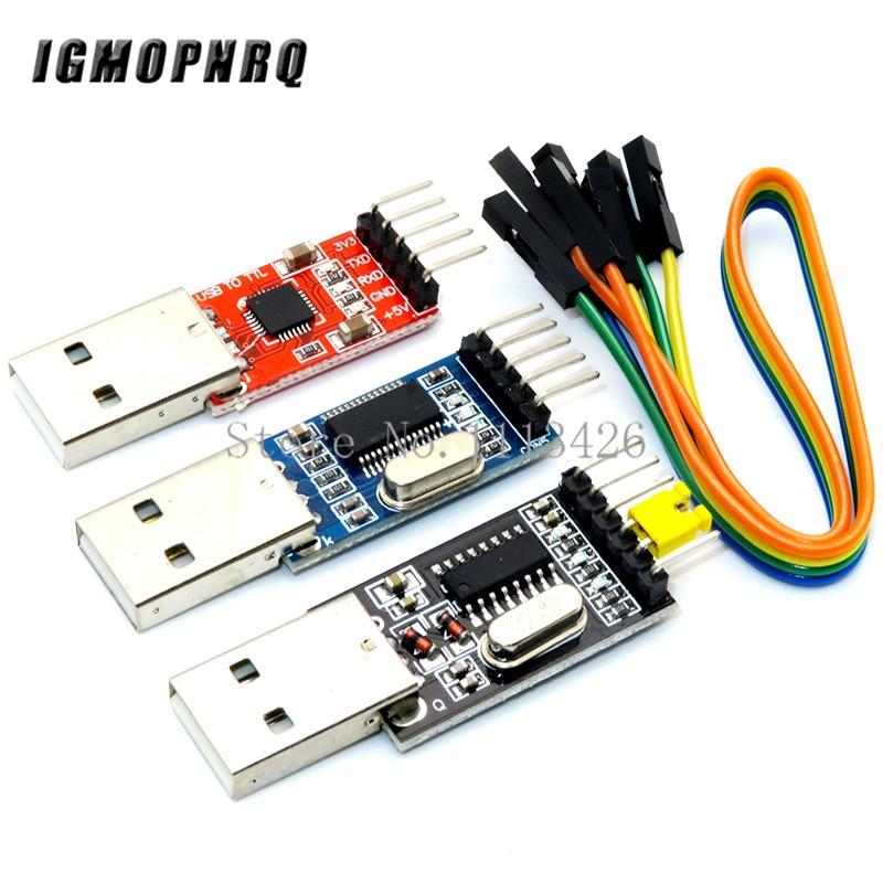 3pcs/lot =1PCS PL2303HX+1PCS CP2102+1PCS CH340G USB TO TTL For Arduino PL2303 CP2102 5PIN USB To UART TTL Module