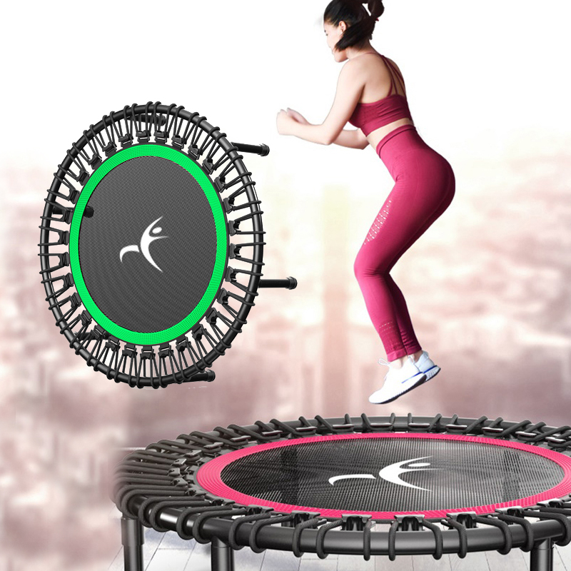 40 Inch Fitness Trampoline Rebounder Adults Trampoline Fitness Equipment Dedicated Elastic Rope Home Gym Exercise Sports Tool