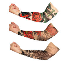 SAGACE 1Pc Outdoor Ciclismo Maniche In Nylon Elastico Temporary Tattoo Sleeve Disegni Del Corpo Del Braccio Calze E Autoreggenti Tatoo Freddo Tatuaggi Donne Degli Uomini(China)