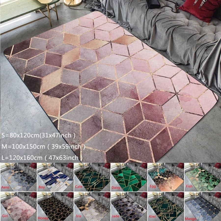 Fashion Modern Area Rugs Geometric Pattern Carpet Nordic Simple Living Room Coffee Table Room Bedroom Floor Rug Mat