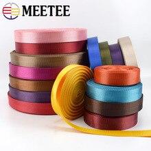 1pc(50 jardas) 25mm de alta qualidade correia de tecido de poliéster padrão de espinha de peixe fita de renda fita diy saco cinta costura cinto acessórios