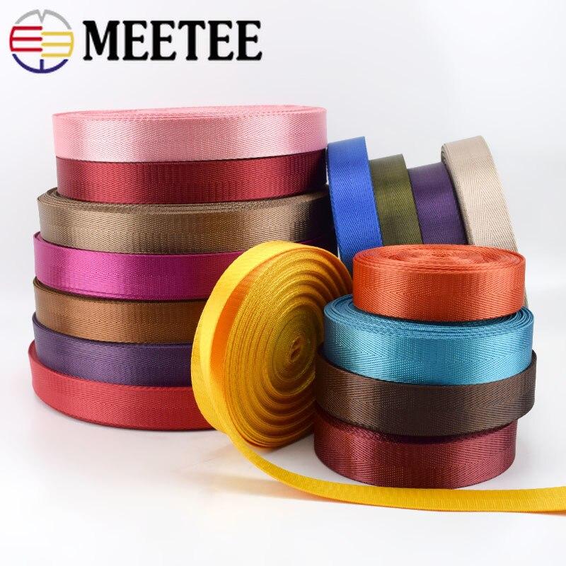 1pc(50yards) 25mm High Quality Nylon Webbing Band Herringbone  Pattern Lace Tape Ribbon DIY Bag Strap Sewing Belt AccessoriesWebbing