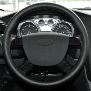 Image 3 - Rivestimento della copertura della decorazione del pannello del volante dellautomobile dellacciaio inossidabile di 4 pz/set per gli accessori di Ford Focus 2 Mk2 2005   2012