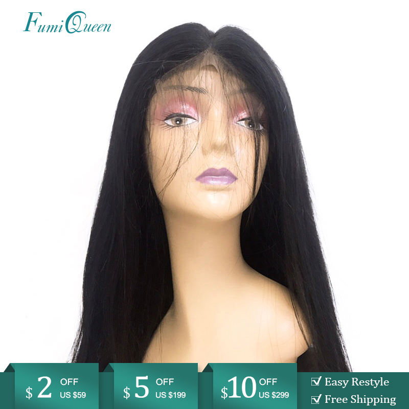4x4 5x5 6x6 Closure Wig 150% / 180% Natural Color Pre-Plucked Hairline Lace Closure Wig Brazilian Straight Remy Human Hair Wigs