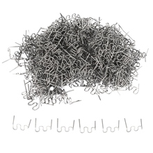 1000Pcs Staples for Hot Stapler Plastic Repair Wave Staples Bumper Bodywork Repairs 0.8mm S Wave Staples