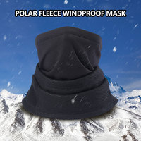 Double Layer  Winter Warm Ski Hat Scarf Hood Neck Face Mask Skiing Hiking Cycling Cap Multi function scarf Cycling Mask Scarf|Cycling Face Mask| |  -