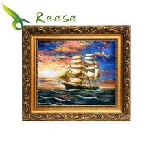 New Needle Arts Craft Diy Full Resin Round Diamond Mosaic Scenery Painting Cross Stitch Embroidery Smooth Sailing Modern Hobby