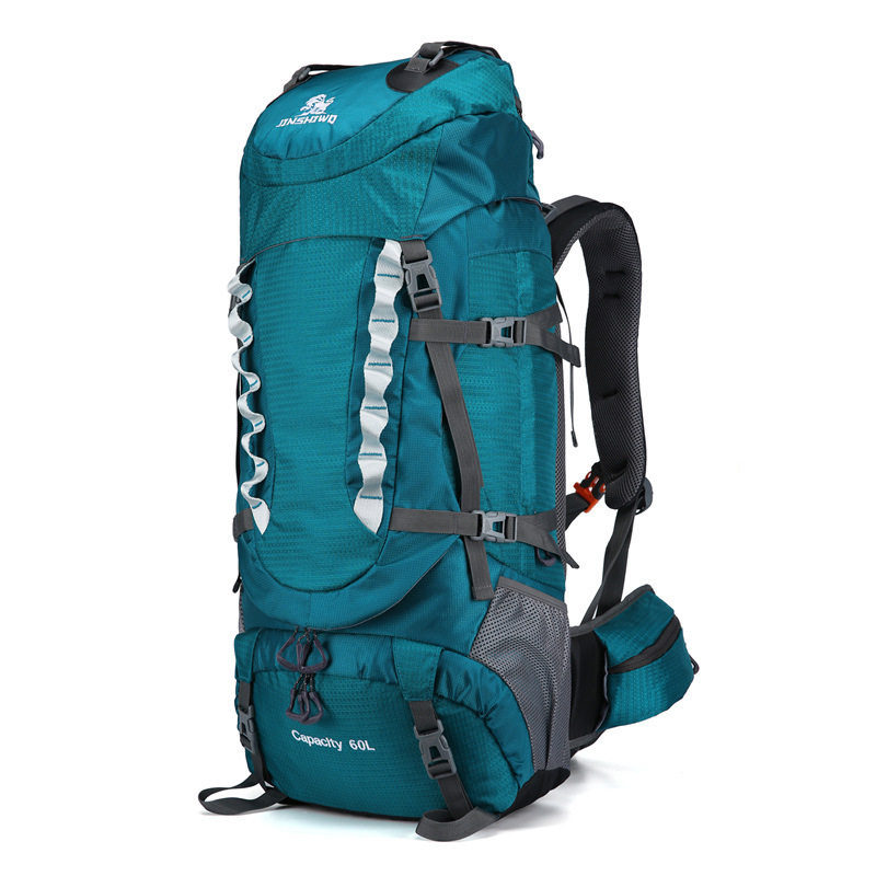 Jinshiwq New Style Outdoor Mountaineering Bag 60L Large Capacity Waterproof Off-road Zhang Peng Bao Manufacturers Direct Selling