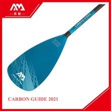 AQUA MARINA углеродная направляющая Регулируемая углеродная Стекловолоконная SUP весло каяк Удлиняемая доска для серфинга