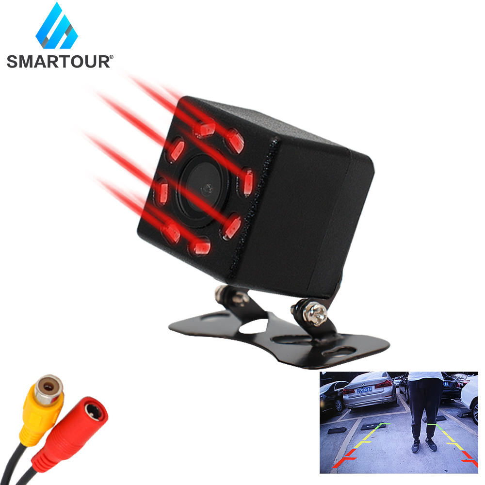 cheapest Podofo Vehicle Car Rear View 9inch LCD Monitor 4CH Quad Split Screen 4Pin for Bus Truck Caravan Van Motorhome Camper Parking Camera
