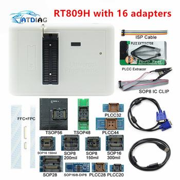 Gorąca sprzedaż RT809H EMMC-Nand FLASH programista + 16 adaptery + TSOP56 TSOP48 SOP8 TSOP28 Adapter + SOP8 klip testowy z kablami emmc-nand tanie i dobre opinie ATDIAG CN (pochodzenie) 1inch plastic Testery elektryczne i przewody pomiarowe Other 0 2kg