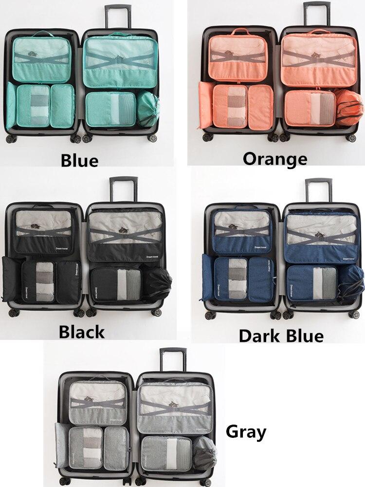 embalagem cubo portátil roupas espécie caso organizador