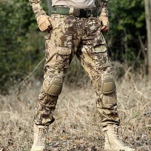 Image 4 - Desert Python Combat Broek Mannen Militaire Kleding Broek Kniebeschermers Tactische Camouflage Jacht Kleding Airsoft Multicam Broek
